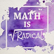 Math Is Radical Watercolor Splash Purple