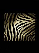 Gold Foil Zebra Pattern on Black