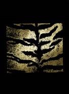 Gold Foil Tiger Pattern on Black