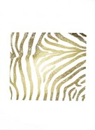 Gold Foil Zebra Pattern on White