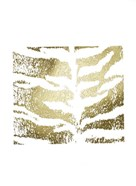 Gold Foil Tiger Pattern on White