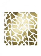 Gold Foil Giraffe Pattern on White
