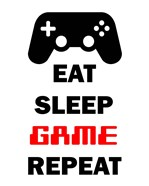 Eat Sleep Game Repeat  - White