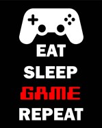 Eat Sleep Game Repeat  - Black