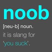 Noob - Gray and Cyan