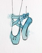 Ballet Shoes En Pointe Blue Watercolor Part III