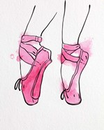 Ballet Shoes En Pointe Pink Watercolor Part I