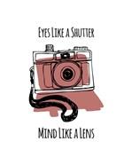 Eyes Like A Shutter Mind Like A Lens Camera Doodle Red