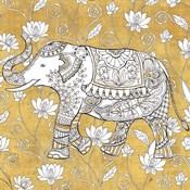 Color my World Elephant II Gold