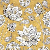 Color My World Lotus I Gold