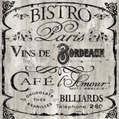 Paris Bistro III