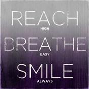 Reach, Breathe, Smile (purple)
