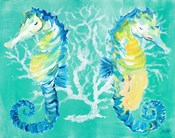 Seahorses on Coral