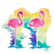 Sunset Flamingo Square I