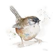 Watercolor Mountain Bird I
