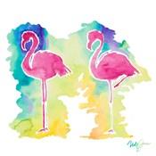 Sunset Flamingo Square II