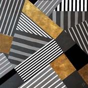 Geo Stripes in Gold & Black II