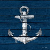Anchor on Blue Wood