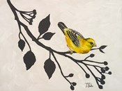 Yellow Bird On the Branch I