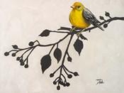 Yellow Bird On the Branch II