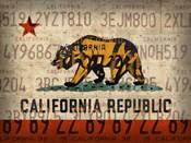 Cali State Flag License Plates