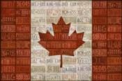 Canada License Plate Flag