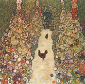 Garden Path with Chickens, 1916