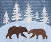 Bear - Snowy Landscape
