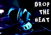 Drop The Beat - Navy and Cyan