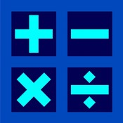Math Symbols Square - Blue