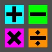 Math Symbols Square - Colorful Boxes