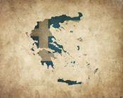 Map with Flag Overlay Greece