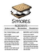 S'mores Recipe White Background