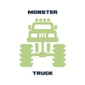 Monster Truck Graphic Green Part II