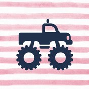 Monster Truck Graphic Pink Part I