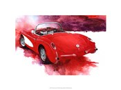 '57 Red Corvette