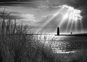 Frankfort Lighthouse and Sunbeams, Frankfort, Michigan '13-IR
