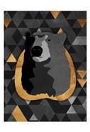 Dark Gold Triangular Bear