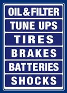 Auto Shop Boards Blue and White