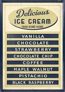 Ice Cream Board -Navy Cream