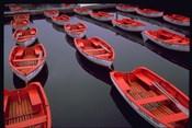 City Island Red Row Boats