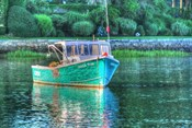 Green Hull Moored
