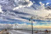 White Street Pier And Sky
