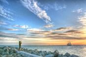 Key West Lone Figure Sunset