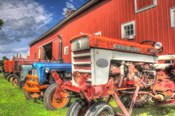 Tractors and Barn