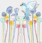 Wildflowers With Bird