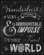 Wanderlust Chalkboard Travel Series