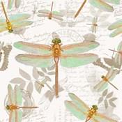 Vintage Botanicals Dragonfly Pattern Copper