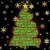 Let It Snow Christmas Tree Black