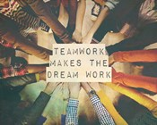 Teamwork Makes The Dream Work Stacking Hands Color